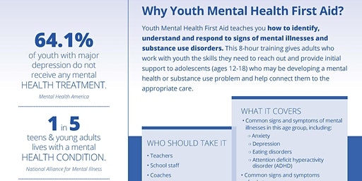 Youth Mental Health First Aid USA Certification Class