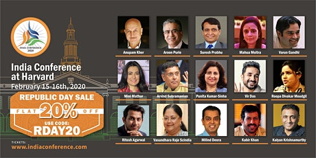 India Conference at Harvard - 2020 tickets