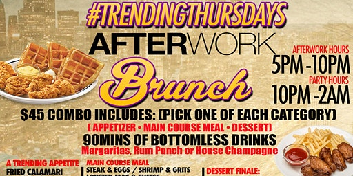 TRENDING THURSDAYS - AFTER WORK BOOZY BRUNCH - SOHO PARK #TIMESSQUARE