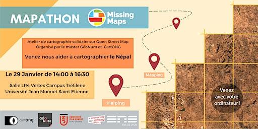 Mapathon Missing Maps à Saint Etienne @ Master GéoNum