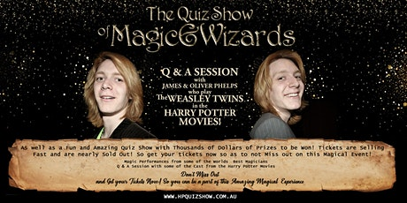 THE QUIZ SHOW OF MAGIC & WIZARDS - BENDIGO billets