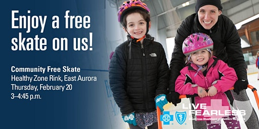 BlueCross BlueShield Fearless February - Free Skate at Healthy Zone Rink