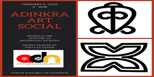 Ghana Adinkra Paint & Sip Social