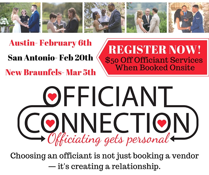 Officiant Connection- New Braunfels, Austin and San Antonio image