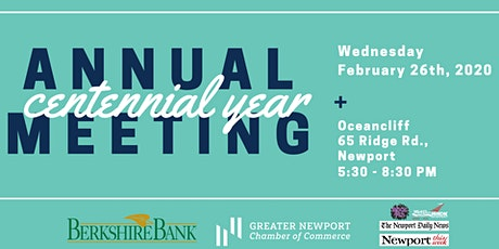 Greater Newport Chamber Annual Meeting Celebrating Our Centennial year! tickets