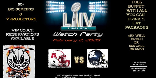 Super Bowl Watch Party AYCD and AYCE available