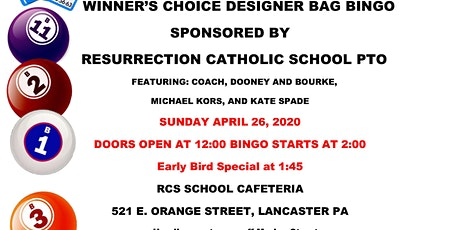 Winner's Choice Designer Bag BINGO! tickets
