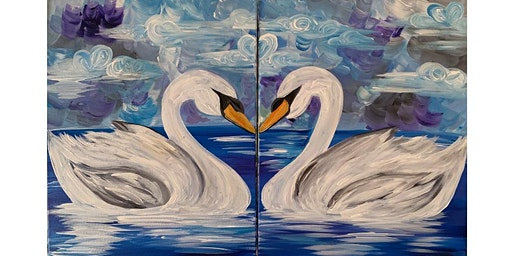 Date Night Swan Canvas Painting Workshop- Buford