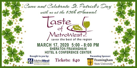 10th Annual Taste of MetroWest tickets
