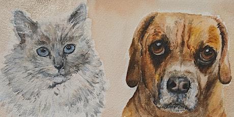 Pet Portrait: 2-Saturday Watercolor Workshop tickets