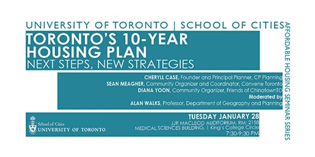 Toronto's 10-Year Housing Plan: Next Steps, New Strategies tickets