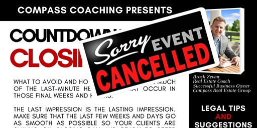 **CANCELLED** - Countdown to CLOSING DAY