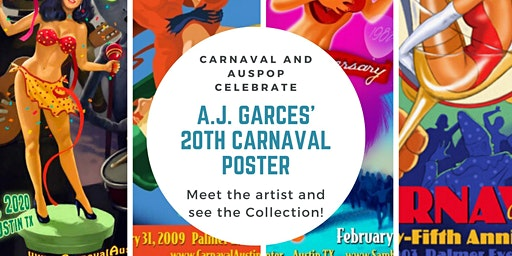 Carnaval and AusPop Celebrate the 20th poster by A.J. Garces
