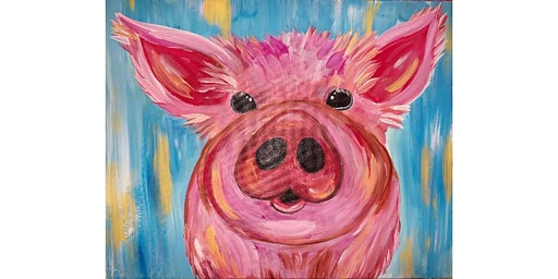 Farm House Piggie Canvas Painting Workshop- Buford