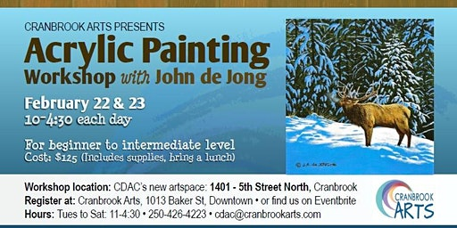 Acrylic Painting with John de Jong