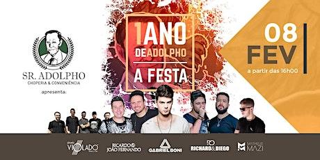 1 ANO DE ADOLPHO - A FESTA ingressos
