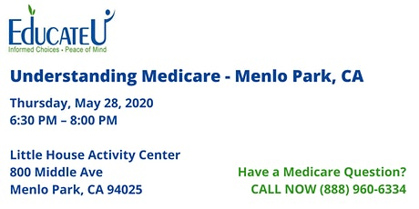 Menlo Park  5/28/20 - Understanding Medicare Workshop tickets