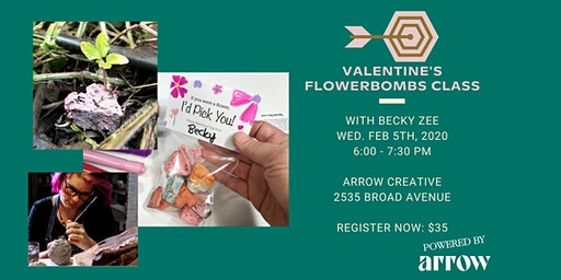Valentine's Flowerbombs Class with Becky Zee - Powered by Arrow