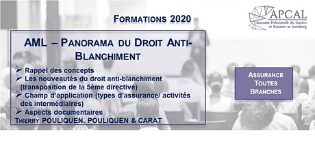AML - Panorama du Droit Anti-Blanchiment  - FORMATION DIGITALE tickets