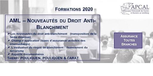 AML - Nouveautés du Droit Anti-Blanchiment