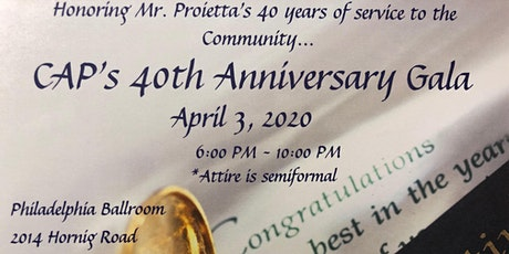 40th Anniversary Gala tickets