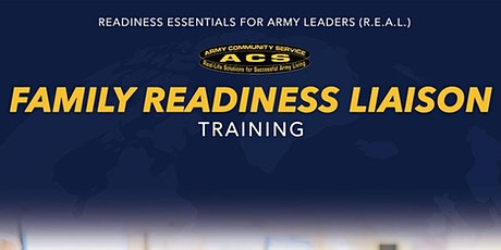 R.E.A.L Soldier and Family Readiness Liaison Training tickets