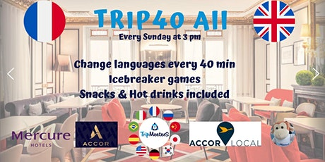 Pratique anglais français, Conversation Icebreaker + Snacks boissons inclus tickets