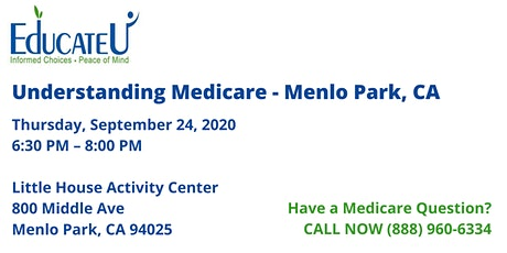 Menlo Park  9/24/20 - Understanding Medicare Workshop tickets