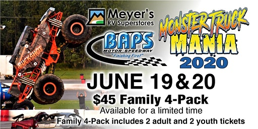2020 Monster Truck Mania at BAPS Motor Speedway