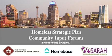 Homeless Strategic Plan Community Input Discussion tickets