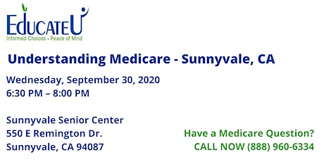 Sunnyvale 9/30/20 - Understanding Medicare Workshop tickets