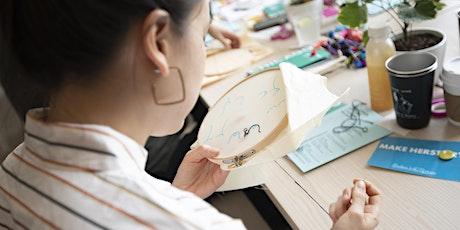 Embroidery Craftivism Workshop w/ Badass Cross Stitch tickets