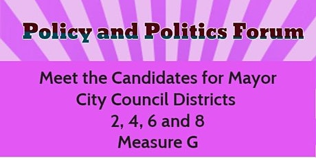 Policy and Politics Candidates Forum tickets