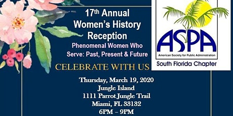 17th Annual ASPA SoFL Women's History Month Reception tickets
