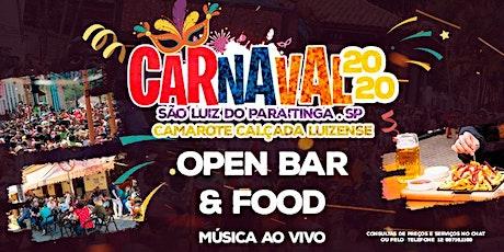 Camarote Calçada Luizense- Carnaval 2020 ingressos