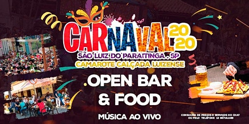 Camarote Calçada Luizense- Carnaval 2020