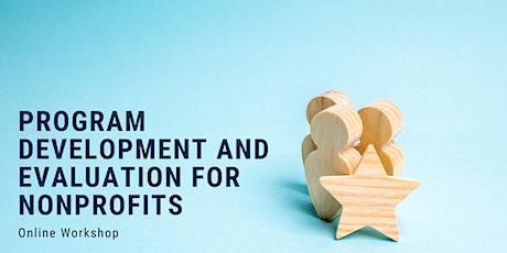 Program Development and Evaluation for nonprofits tickets