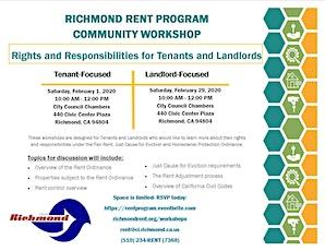 2020 Richmond Rent Program Community Workshops boletos