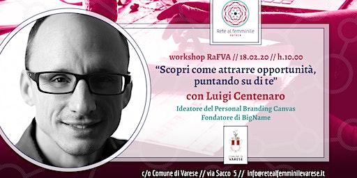 Ciclo di Workshop RaFVA - Luigi Centenaro e il Personal Branding