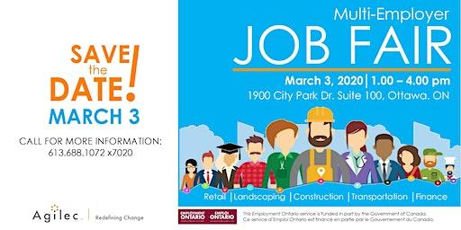 Multi-Employer Job Fair  in Ottawa - March 2020