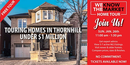 Touring Homes In Thornhill Under $1 Million