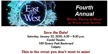 East meets West (4th Annual): A night of music, poetry and story to warm your heart. billets