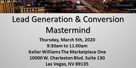 Lead Generation/ Conversn Matermind tickets