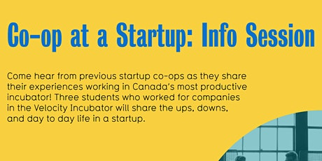 Co-op at a Startup: Info Session tickets