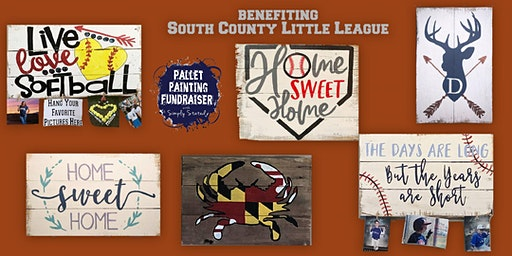Pallet Painting Fundraiser benefiting South County Little League