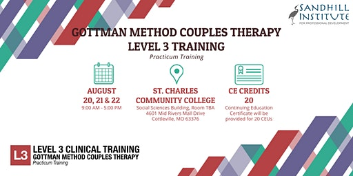 Gottman Method Couples Therapy  ​- Level 3 Training