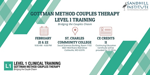 Gottman Method Couples Therapy  ​- Level 1 Training