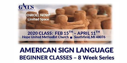AMERICAN  SIGN LANGUAGE BEGINNERS CLASS AT HOPE UNITED METHODIST CHURCH