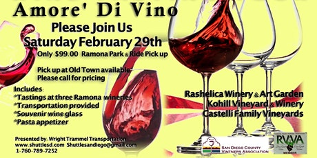 Amore Di Vino Wine Tasting Tour tickets