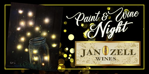 Jan Zell Wines Paint Event Firefly Jar with Lights